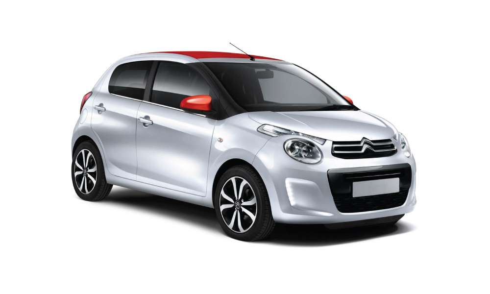Citroën C1 Airscape descapotable color gris y rojo